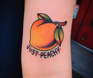 tattoo, peach, and orange image