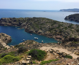 cadaques, summer, and cliff image