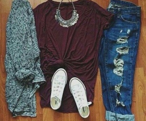 outfit, jeans, and converse image