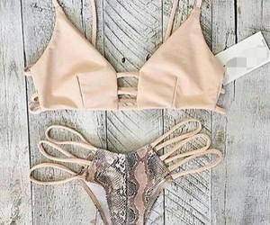 bikini, summer, and women fashion image
