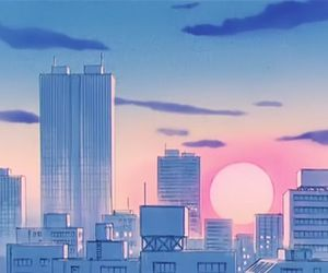 90s, anime, and clouds image