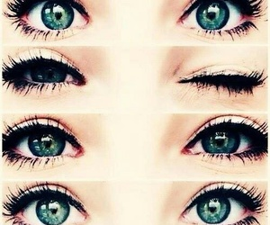 beautiful, green, and eyes image