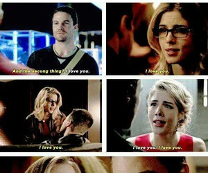 arrow, stephen amell, and felicity smoak image