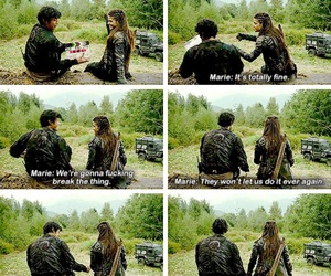 bloopers, bellamy blake, and tv show image