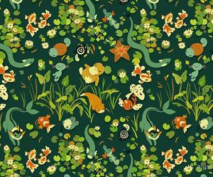 background, pattern, and pokemon image