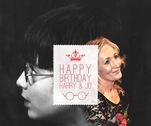 harry potter, happy birthday, and j.k. rowling image