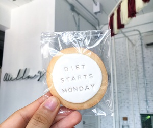 caption, cookie, and diet image