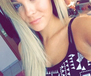blonde, dagibee, and blueeyes image