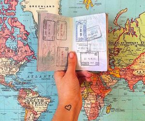 travel, map, and passport image