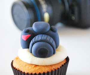 cupcake, camera, and food image