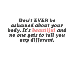 beautiful, body, and quote image
