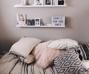 bedroom, pink, and tumblr image