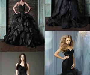 negro, vestidos, and vestidos de novia image