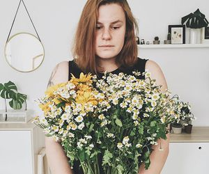 floral, flowers, and girl image