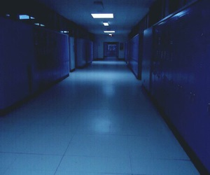 blue, grunge, and school image