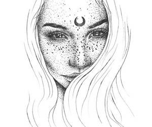 art, freckles, and beauty image