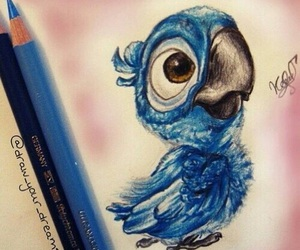 drawing, blue, and disney image