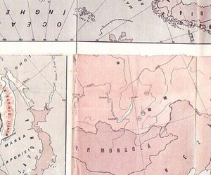 pink, map, and pale image