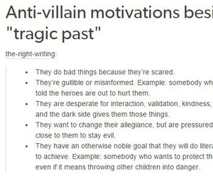 character, writing prompt, and anti-villain image