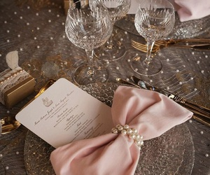 pink, decoration, and pearls image