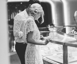 black and white, elegance, and romance image