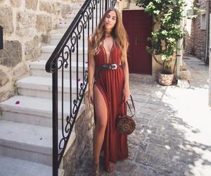 dress, fashion, and kenza zouiten image