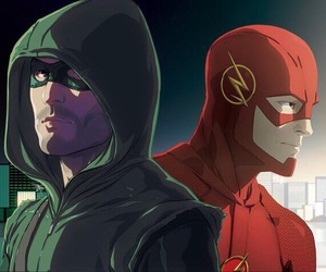arrow, series, and the flash image