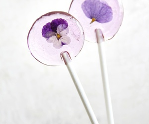 flowers, lollipop, and sweet image