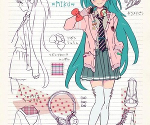 anime, miku, and kawaii image