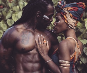 African and couple image