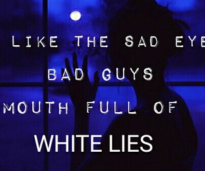 ghost, sad eyes, and white lies image
