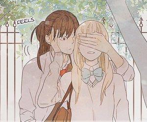 anime, couple, and manhwa image