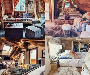 beautiful, rooms, and wooden image