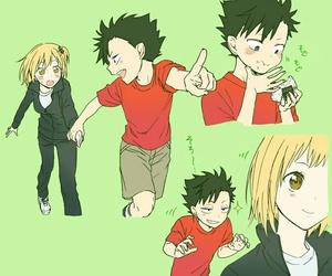 kuroo, haikyuu, and yachi image