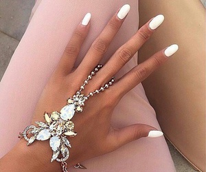 nails, white, and accessories image