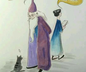 harry potter, albus dumbledore, and book image