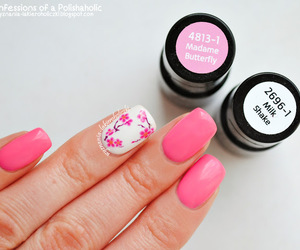 flowers, girly, and manicure image