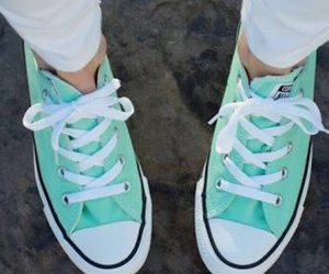 converse, mint, and shoes image