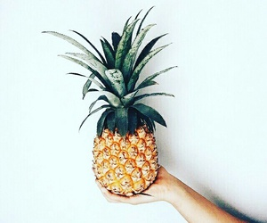 food, minimalism, and pineapple image