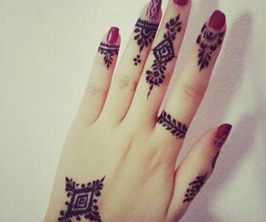 henna, tattoo, and اناقة image