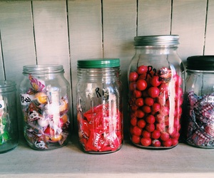 candy, glass, and jars image