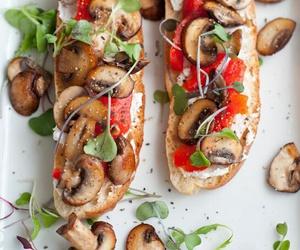 food, fit, and mushroom image