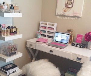room, makeup, and decor image