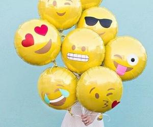 emoji, balloons, and emojis image