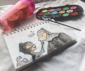 искусство, рисуем, and женщина-кошка image