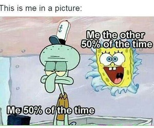 funny, spongebob, and me image