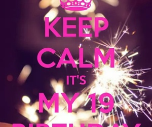19, birthday, and keep calm image