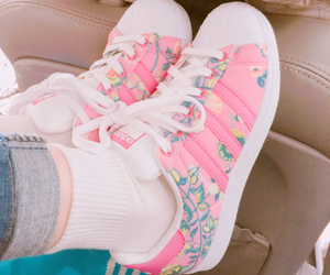 pastel, pink, and sneaker image