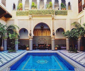 architecture, morocco, and beauty image