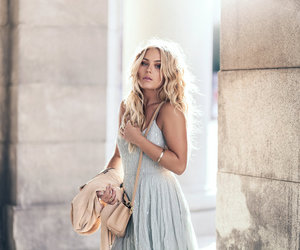 blonde, fashion, and curly hair image